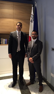 Courtesy call by REMPEC to his Excellency Mr Ian Borg, Minister for Transport, Infrastructure and Capital Projects