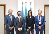 Courtesy visit of Her Excellency Mrs Natasa Pilides, Shipping Deputy Minister to the President of the Republic of Cyprus to REMPEC