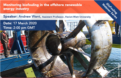 GloFouling webinar - Monitoring biofouling in the offshore renewable energy industry