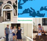 @greenplanetchallenge plante un olivier au REMPEC