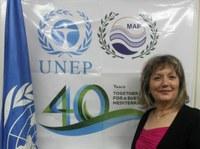 Mme Tatiana Hema, du PNUE / PAM-Convention de Barcelone, lauréate du prix Baobab du personnel