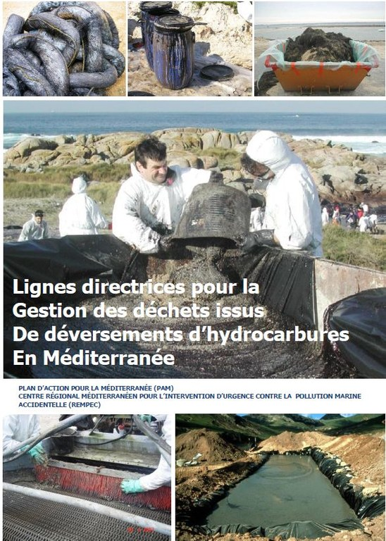 Lignes directrices pour la gestion des déchets issus de déversement d'hydrocarbures en Méditerranée.JPG
