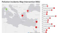 Carte des pollutions accidentelles
